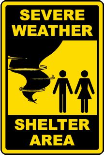 Emergency Shelter in Place Signs