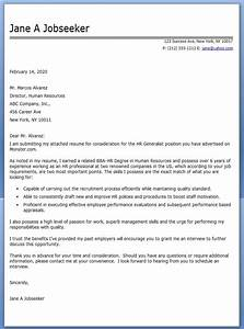 hr generalist cover letter examples resume downloads With cover letters for hr jobs