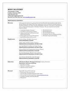baseball coach resume resume ideas With baseball resume template