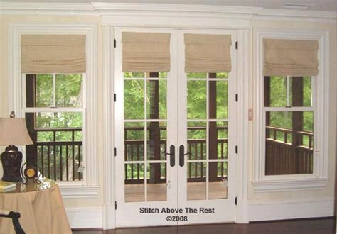 roman shades french doors home house design