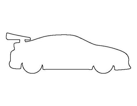 race car pattern   printable outline  crafts