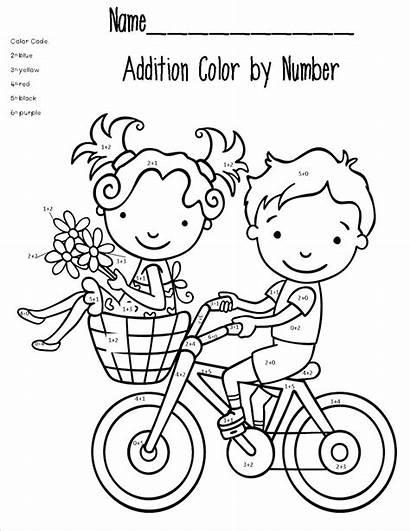 Math Coloring Pages Addition Printable Worksheet Kindergarten
