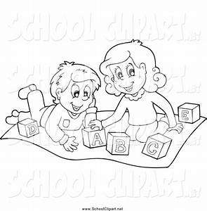 Black And White Kid Clip Art (65+)