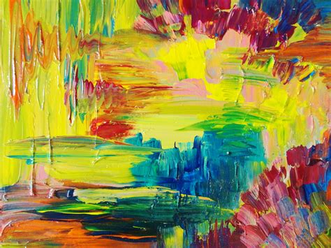 color painting abstract acrylic painting bright bold color 16 x 20 free