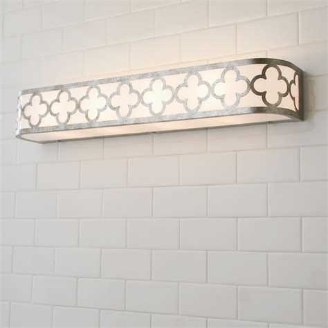 quatrefoil geometric bar bath light shades  light
