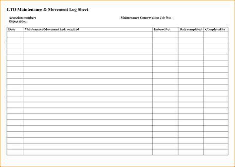 maintenance log sheet clergy coalition