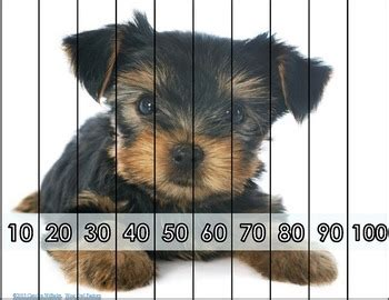 skip counting puppy puzzles count