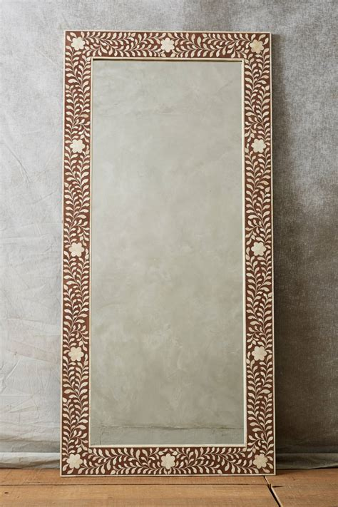 floor mirror bone inlay bone inlay mirror anthropologie