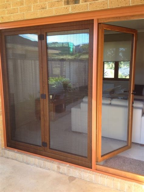 retractable screen for large door traditional patio
