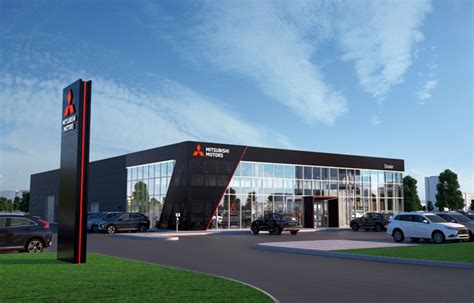 Dealers Mitsubishi by Mitsubishi Motors Introduces New Design For Dealerships