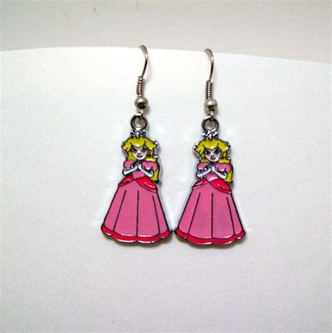 super mario earrings video game geek geeky