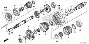 Honda Side By Side 2015 Oem Parts Diagram For Transmission