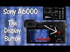 Light Photography Camera Settings Sony A6000 Display Button Youtube