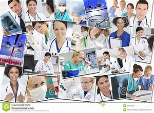 Medical Montage Doctors Nurses Research & Hospital Stock ...