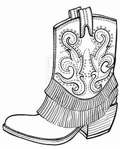 cowboy boots coloring pages gianfreda 16711 - Gianfreda.net