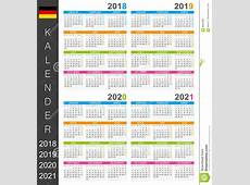 Calendar 20182021 Stock Illustration Image 89632888