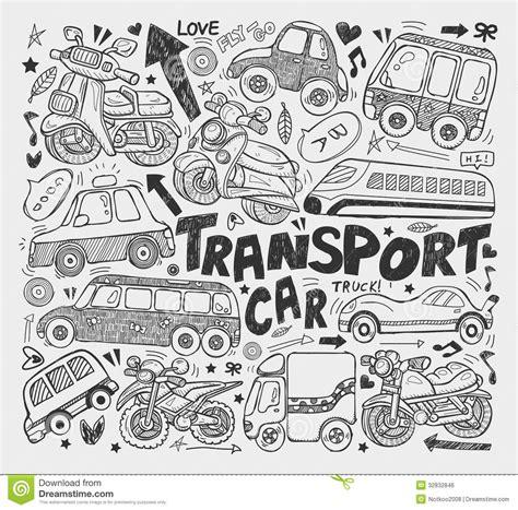 doodle transport element stock vector illustration  element