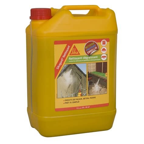 nettoyant d 233 sincrustant sika sikagard 5 l incolore leroy