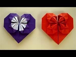 Geschenk Selber Basteln : origami herz falten basteln mit papier geschenkideen diy youtube ~ Watch28wear.com Haus und Dekorationen