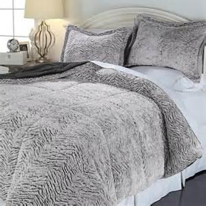 concierge collection soft cozy carved fur comforter set pick a color new ebay