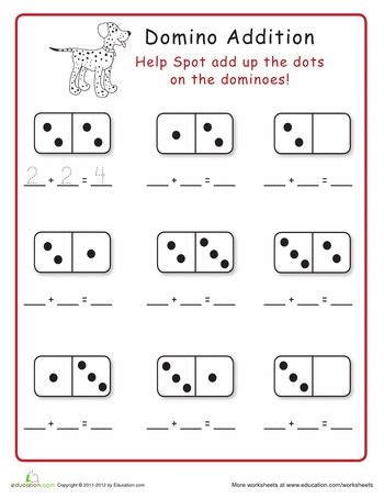 domino addition  images kindergarten math