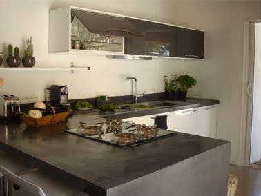 béton ciré sur carrelage plan de travail cuisine faire un plan de travail en béton ciré dans la cuisine