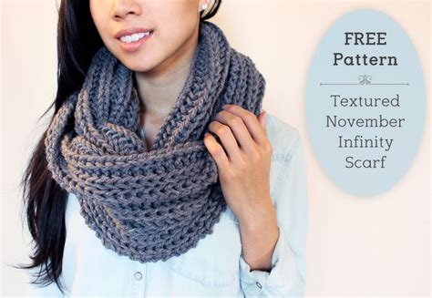 Free Knitting Pattern for Chunky Infinity Scarves