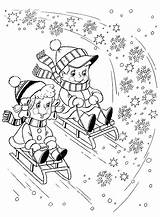 Coloring Sleigh Pages sketch template