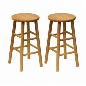 Shop Winsome Wood Set of 2 Natural Counter Stools at Lowes com