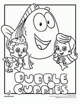 Bubble Coloring Guppies Pages Printable sketch template
