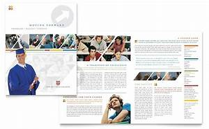 college university brochure template word publisher With college prospectus design template