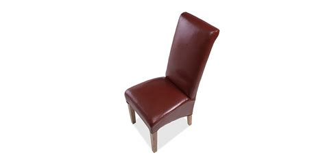 cuba oak bonded leather dining chairs pair