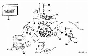 Johnson Carburetor Parts For 1998 9 9hp J10foleca Outboard