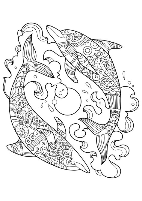dolphins to color for children dolphins kids coloring pages