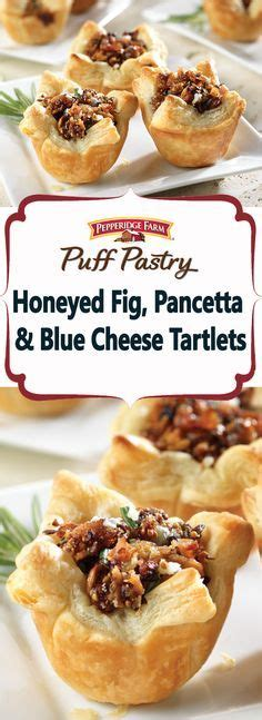 puff pastry canapes ideas honeyed fig pancetta blue cheese tartlets best blue