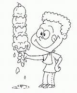 Coloring Ice Cream Printable Icecream sketch template