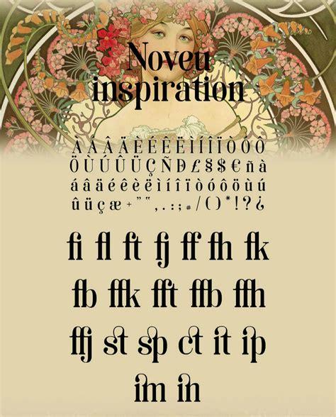 soria  typeface inspired  art nouveau hipfonts
