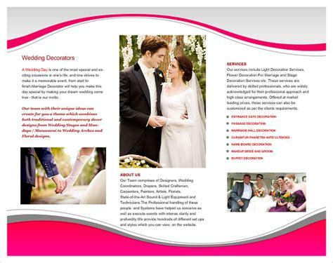 16 Event Brochure Templates Psd Designs Free Wedding Planner Brochure Template Wedding Event Planning