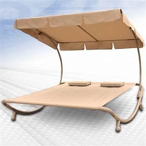 Chaise Longue 2 Places : chaise longue bain de soleil lit de jardin 2 places ~ Teatrodelosmanantiales.com Idées de Décoration