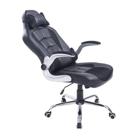 si e bureau baquet homcom fauteuil chaise de bureau modèle baquet de course