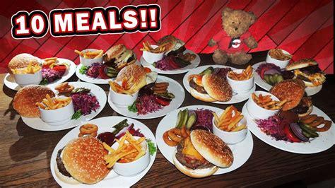Three Professional Eaters Vs Ten Slovak Burger Meals