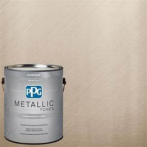 ppg metallic tones 1 gal mtl131 iridescent oyster With home depot metallic furniture paint