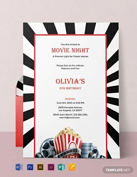 night invitation template word psd