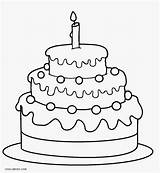 Coloring Cake Birthday 1st Printable Cool2bkids sketch template