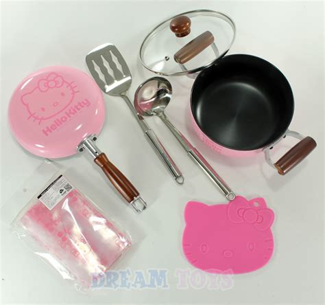 hello kitty kitchen set sanrio hello kitty pink kitchen 6 pcs cookware set pot