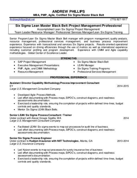 Lean Six Sigma Resume by Andrew Phillips Resume May2015