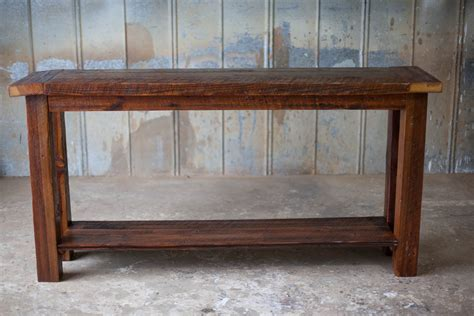 rustic wood sofa table wooden sofa table moti furniture addison reclaimed wood