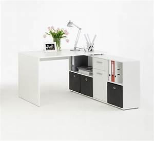 Bureau But Blanc : bureau angle blanc avec rangements ~ Teatrodelosmanantiales.com Idées de Décoration