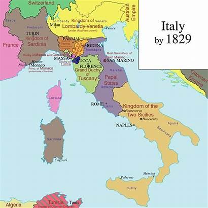Maps Unification Italy Map Italian Century Timeline