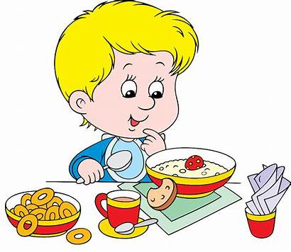 Eating Breakfast Clipart Healthy Boy Menu Transparent